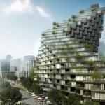ตึกสูงริมน้ำถูกออกแบบให้บิดตัว เพื่อเพิ่มการเห็นวิวที่สวยงามให้มากที่สุด