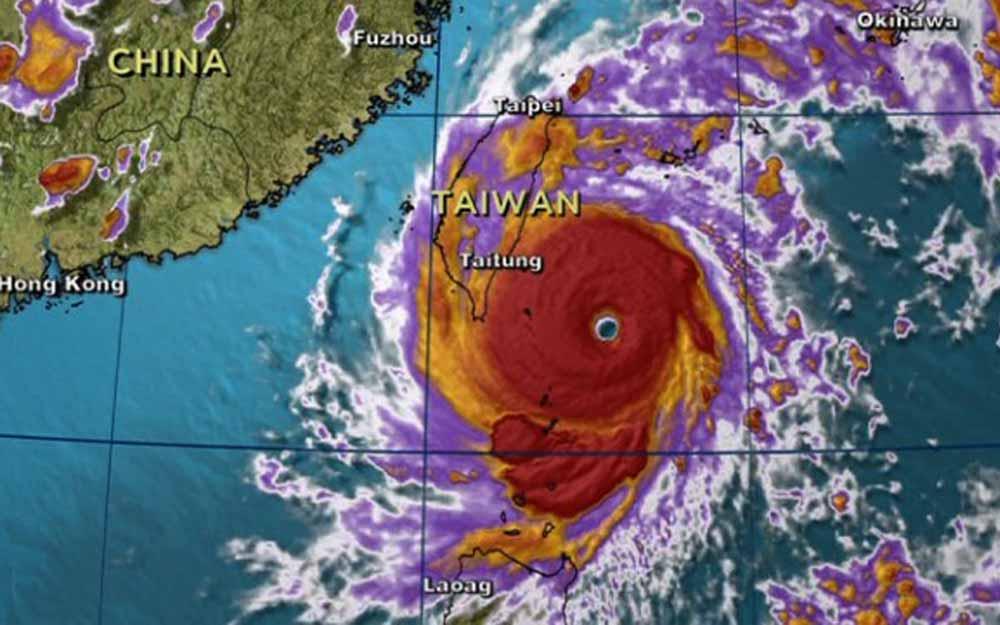 ชมวิดีโอพลังการทำลายล้างของพายุซูเปอร์ไต้ฝุ่นเนพาร์ตักที่เข้าถล่มใต้หวัน