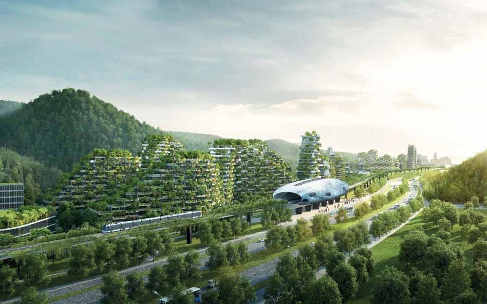 จีนผุดโครงการ Forest City สู้กับมลภาวะด้วยต้นไม้และพืชนานาพันธุ์นับล้านต้น