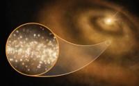 พบ 'ฝุ่นเพชร' ทอแสงแวววาวหมุนวนรอบดาวฤกษ์ในกาแล็กซี่ทางช้างเผือก