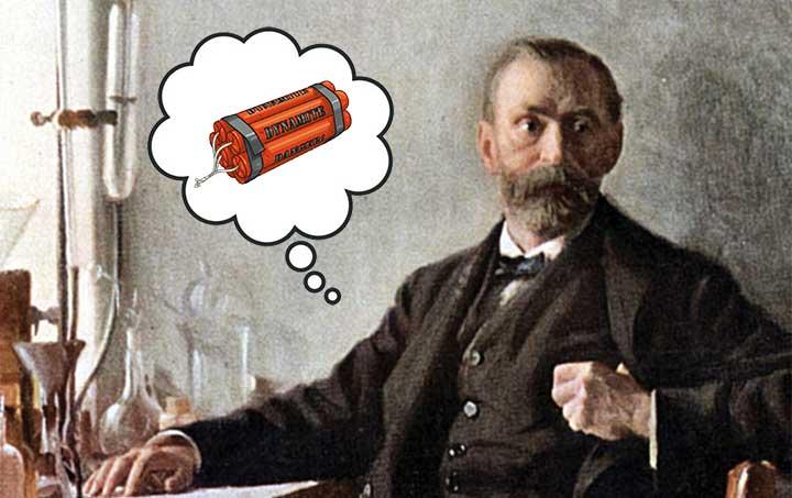 อัลเฟรด โนเบล นักเคมีผู้คิดค้นระเบิดไดนาไมต์และให้กำเนิดรางวัลโนเบล