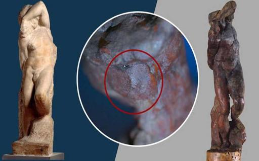 """พบลายนิ้วมือของ """"ไมเคิลแองเจโล"""" ปรากฏขึ้นบนรูปป้้นหุ่นขี้ผึ้งอายุ 500 ปี"""